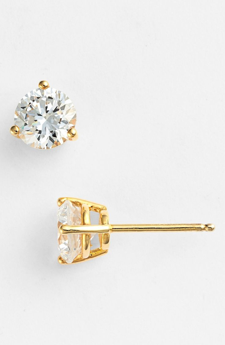 Nordstrom Precious Metal Plated 2ct tw Cubic Zirconia Earrings available at #Nordstrom