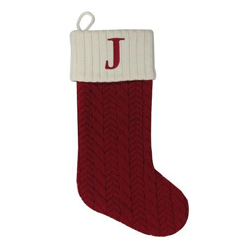Represent your loved one with this St. Nicholas Square monogram stocking. #AllTogetherNow