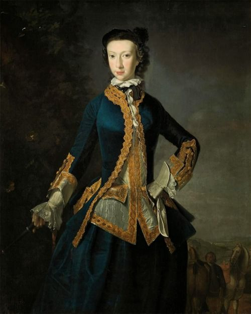 A Portrait of a Lady by Roberet Harvie. 1747