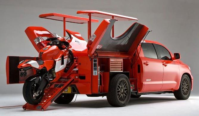 2010 Toyota Tundra Ducati Truck With Toolbox And Bike Bed