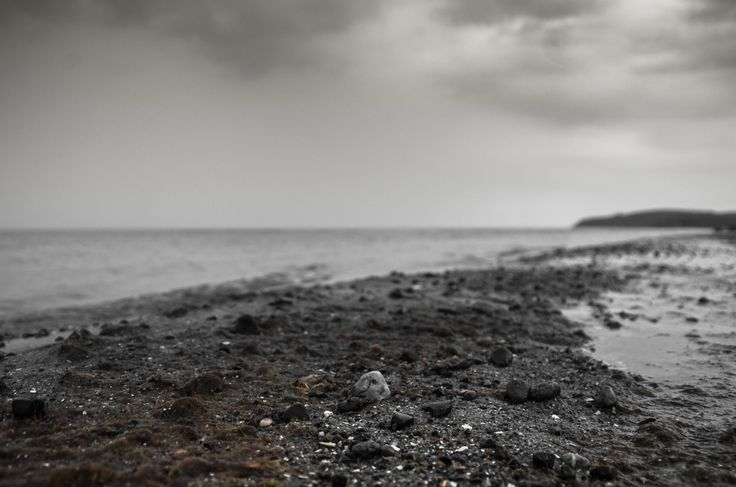 Trauriger Strand  Sad beach  #boat, #baltic sea, #ostsee, #sunset #beach, #sad