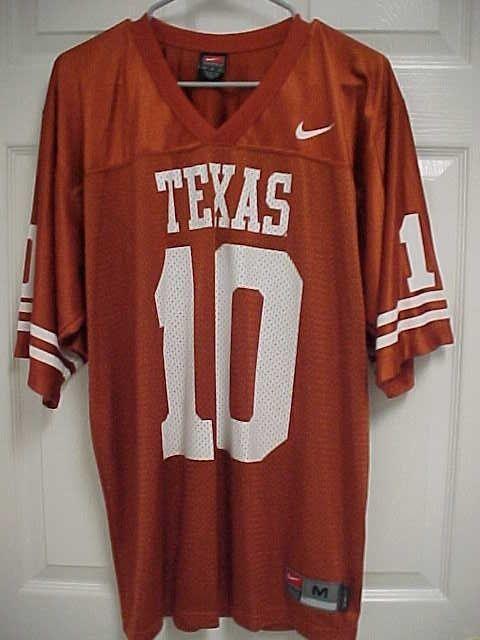 TEXAS LONGHORNS 10 Men Orange Nylon Mesh NCAA Football Jersey Shirt M Nike  Team  Nike  TexasLonghorns ce2f0b975