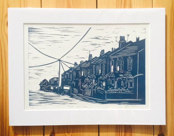 Customised lino print  you provide the photo and I will