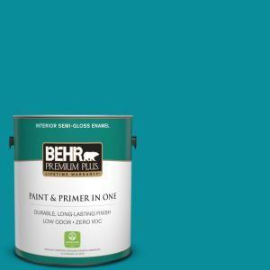 BEHR Premium Plus 1-gal. #P470-6 Bella Vista Semi-Gloss Enamel Interior Paint-330001 - The Home Depot