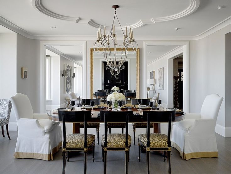 Traditional Dining Room By Candace Cavanaugh Interiors.ceiling Molding In  Conference Room