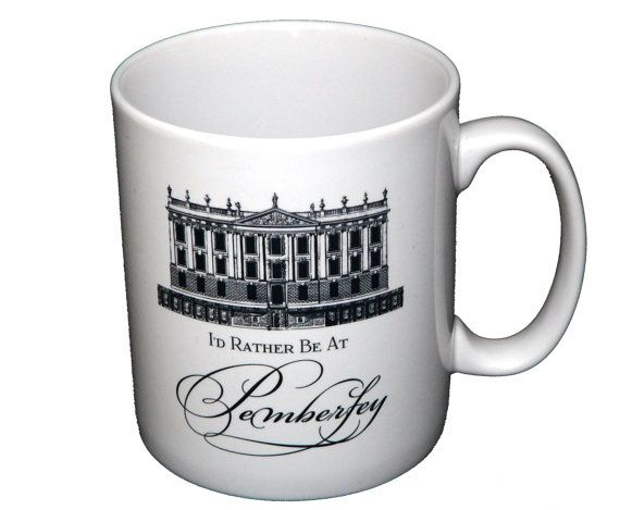 Jane Austen Mug Pride & Prejudice Mug I'd Rather Be by missbohemia