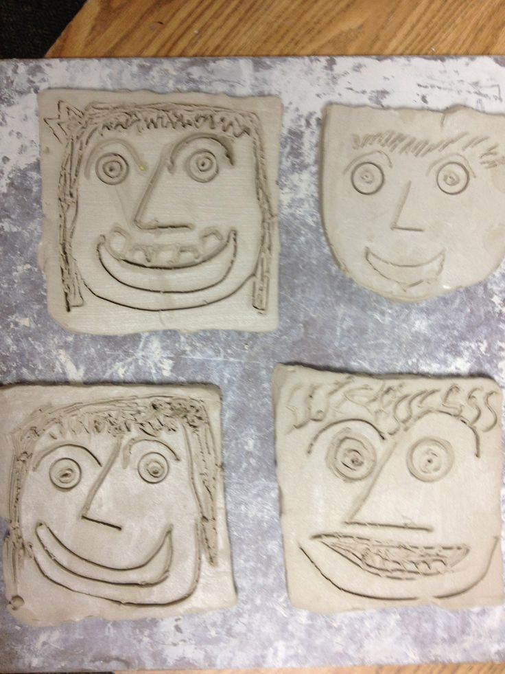 Self portraits made from clay... Wouldn't they look spectacular spray painted in gold or silver