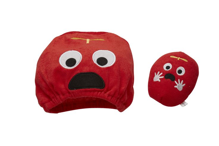Gachapin x Mukku Bath cap and sponge