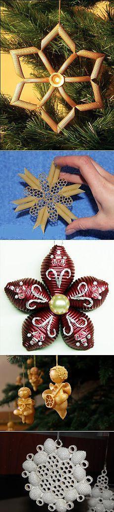 Vánoční řemesla těstoviny / nový rok / vánoční dárky, řemesla a kostýmy