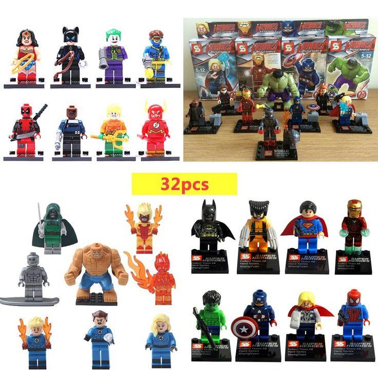 $24.44 (Buy here: https://alitems.com/g/1e8d114494ebda23ff8b16525dc3e8/?i=5&ulp=https%3A%2F%2Fwww.aliexpress.com%2Fitem%2FSY-Marvel-Super-Heroes-Figures-32-Pcs-lot-The-Avengers-Building-Blocks-Sets-Minifigures-Model-Bricks%2F32450110477.html ) SY Marvel Super Heroes Figures 32 Pcs/lot The Avengers Building Blocks Sets Minifigures Model Bricks Toys  for just $24.44