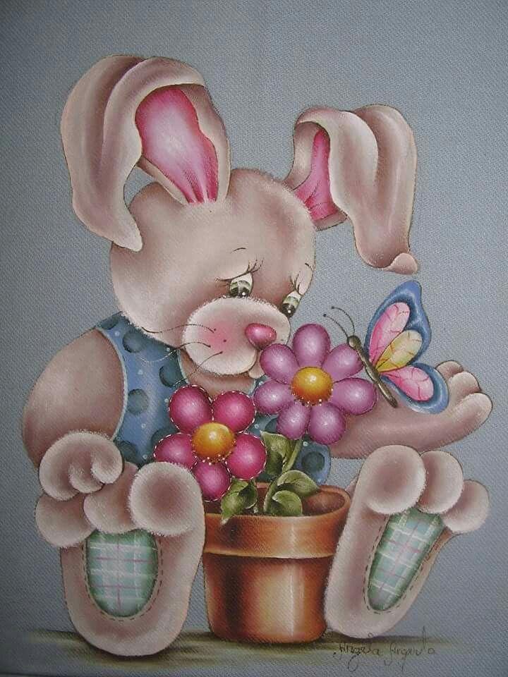 .Coelhinho e flores