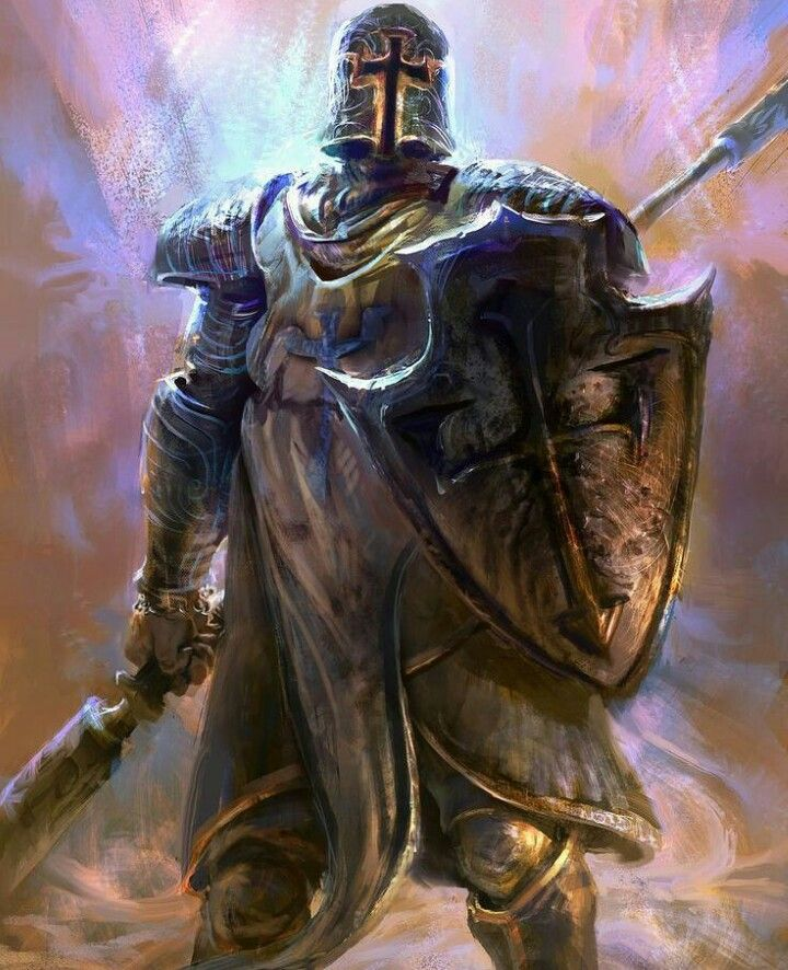 m Paladin plate shield helm spear