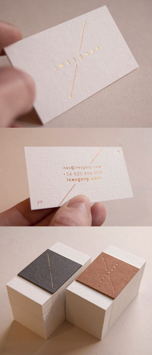 852 best business card gallery images on pinterest business card elegant understated gold foil business card design colourmoves