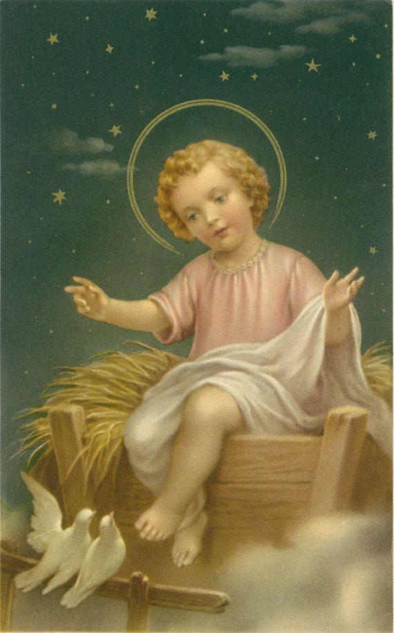 Baby Jezus kerst Nativity Vintage katholieke grote heilige