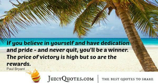 Quote About Inspiration - Paul Bryant