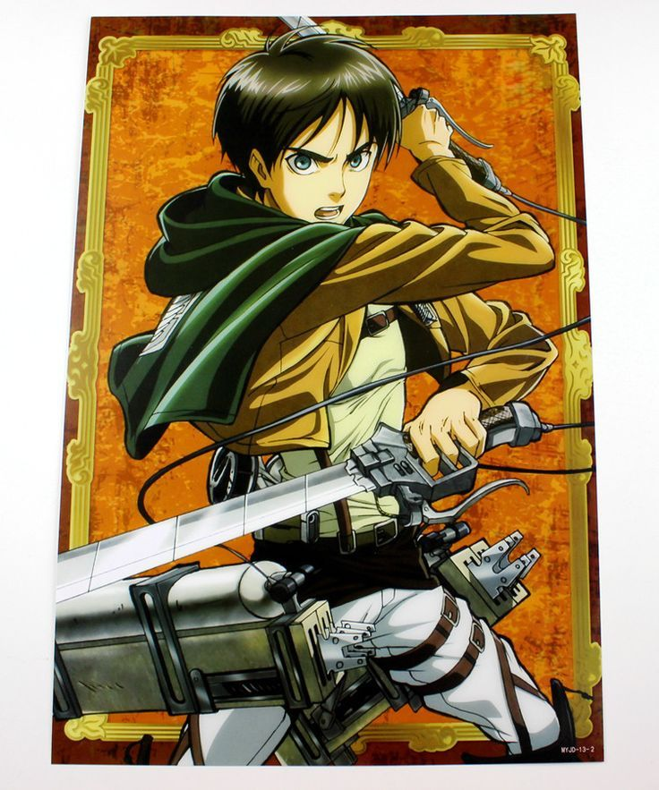 Attack on titan posters 8 pcsset anime attack on