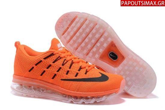 Nike Airmax 2016 Flyknit Fluorescent Orange Black