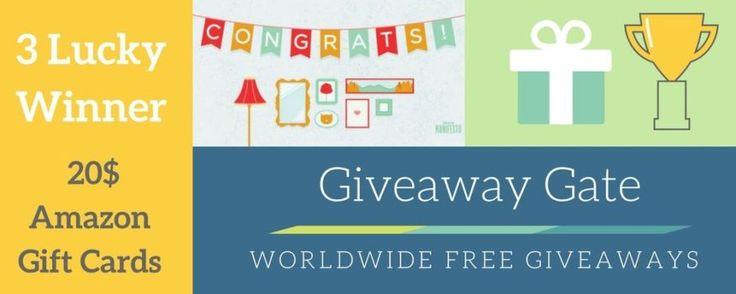 Amazon Gift card Giveaway GiveawayGate.com is giving away 3 online Amazon Gift cards for 3 Lucky Winners for our valuable visitors >> https://www.giveawaygate.com/free-amazon-gift-card-giveaway/