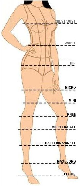 Skirt length guide