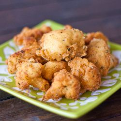Deep Fried Cauliflower Pieces - probably the tastiest cauliflower you will ever have, perfect snack.