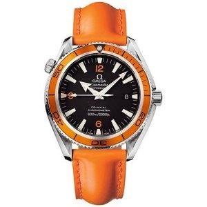 Omega-Mens-2908.50.83-Seamaster-Planet-Ocean-XL-Automatic-Chronometer-Orange-Strap-Watch