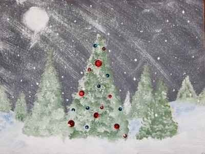 Christmas Arts and Crafts  painted classroom project
