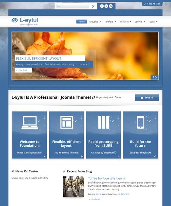 joomla html5 template