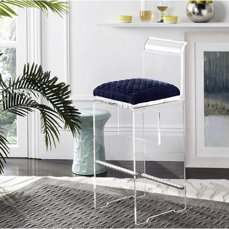 Safavieh Couture Irene Navy Blue Acrylic Barstool (KNT5021A)