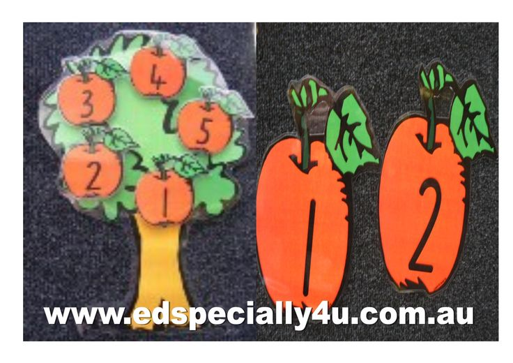 5 Red Apples Hanging on the Tree-a motivating and hands-on learning resource for your music/singing, literacy and numeracy programs