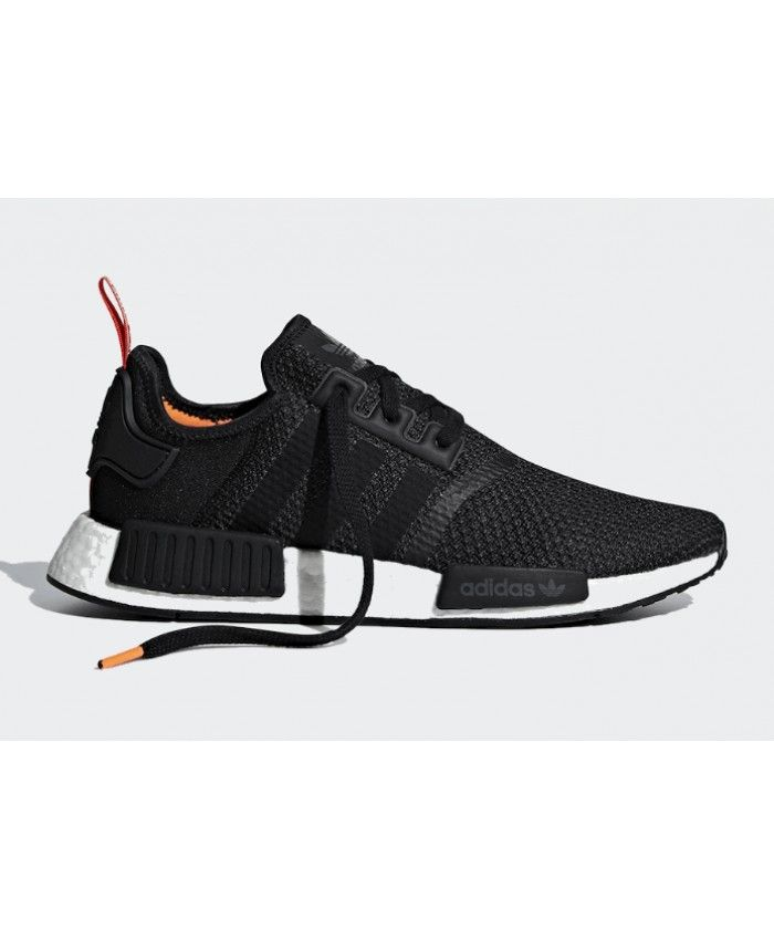 Adidas NMD R1 Black Orange White Red Trainers  e22d10d39