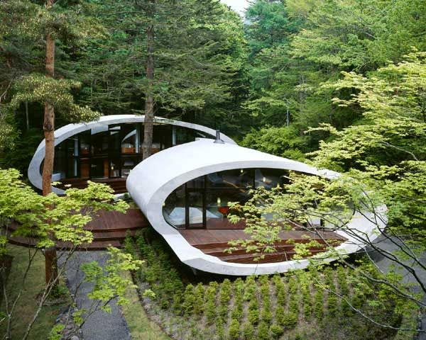 Green home in Japan.