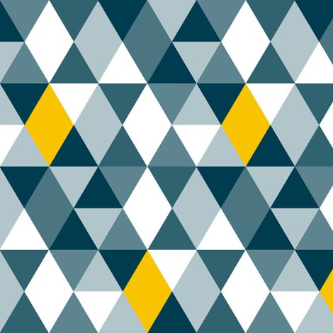 Geo Mod Navy Yellow by smuk