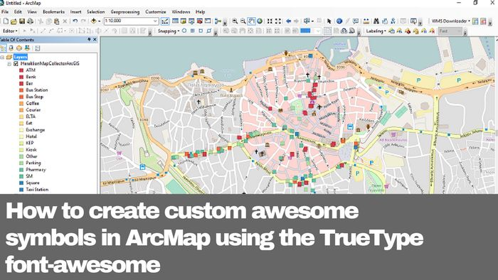 How to create custom awesome symbols in ArcMap using the TrueType font-awesome