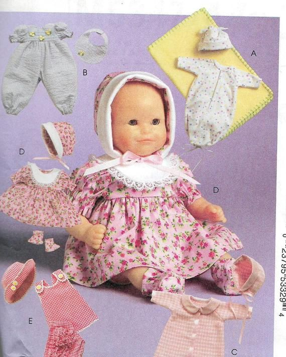 Uncut 11 To 16 Inch Doll Clothes Sewing Pattern Etsy Vintage Sewing Patterns