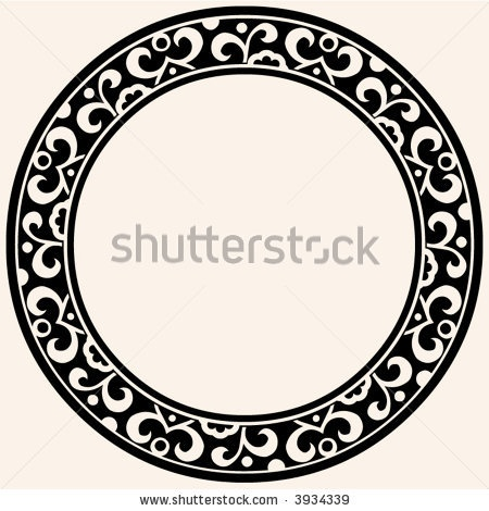 stock vector : round decorative frame