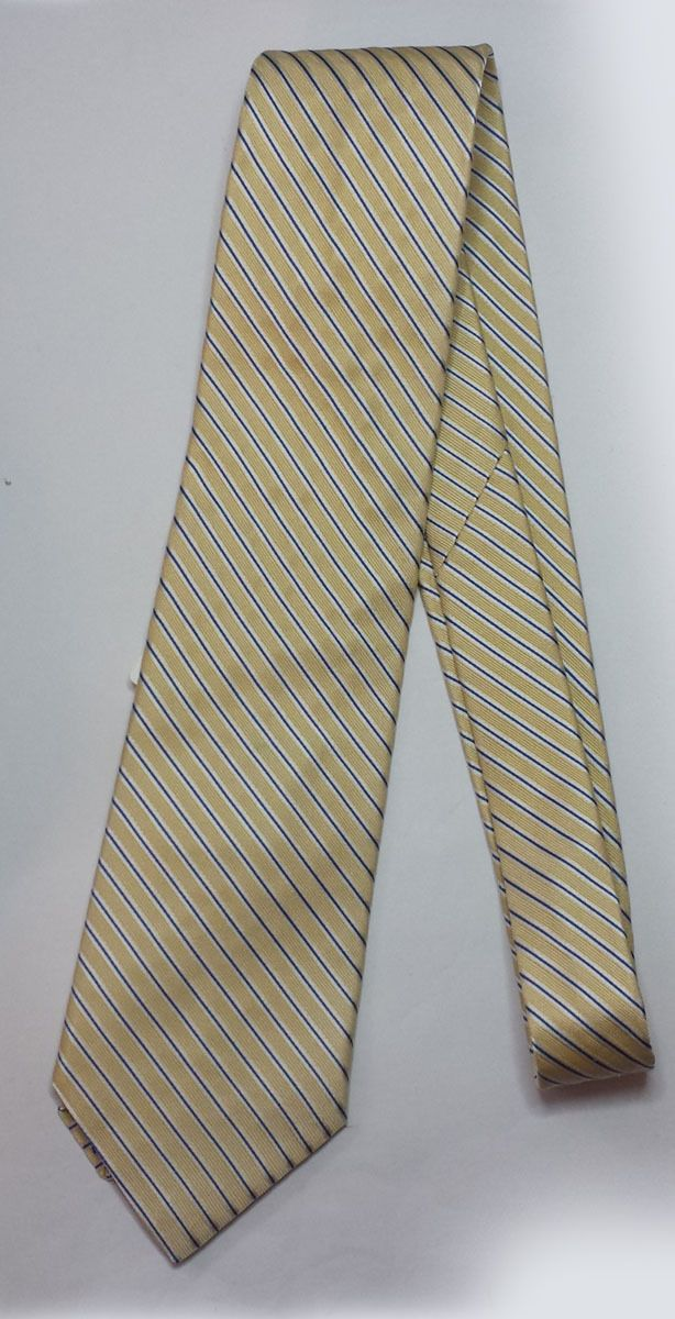 #ebay sale tie Nautica men's dress silk tie yellow with stripes NWT made in USA withing our EBAY store at  http://stores.ebay.com/esquirestore