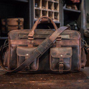 311687cb3 Everett Vintage Leather Pilot Briefcase Bag - Large   Genuine ...