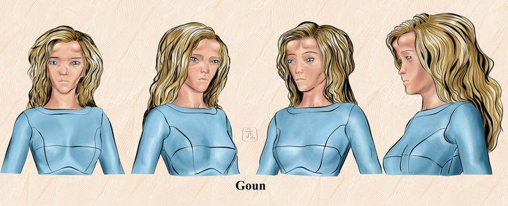 Goun donna illustrazione
