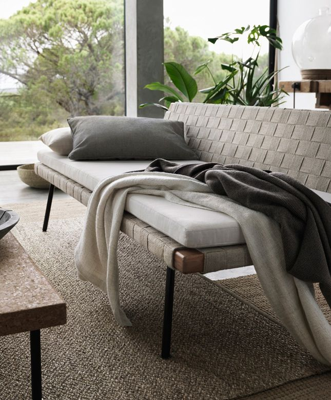 This day bed is ideal for relaxing on a covered porch.