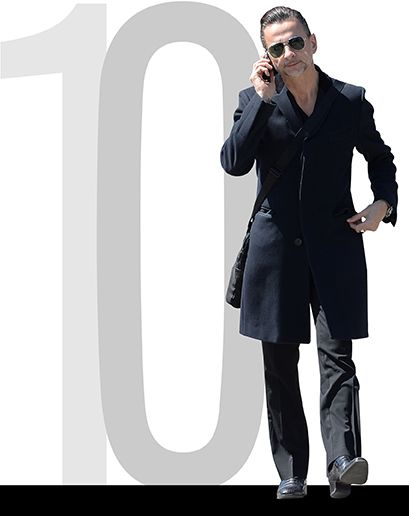 Dave Gahan photographed for GQ magazine best dressed of the weel