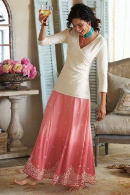 Long Skirts, Long Summer Skirts, Peasant Skirts - Soft Surroundings
