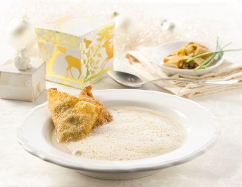 Maronicremesuppe mit Pilztascherln