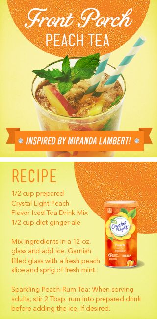 Fort Porch Peach Tea - Crystal Light Beverage inspired by Miranda Lambert