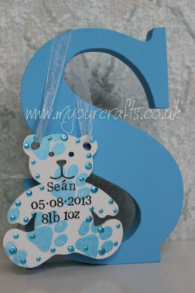 46 best christening images on pinterest christening baptism bespoke baby initial with personalised teddy ideal present for new mum new baby arrival negle Gallery
