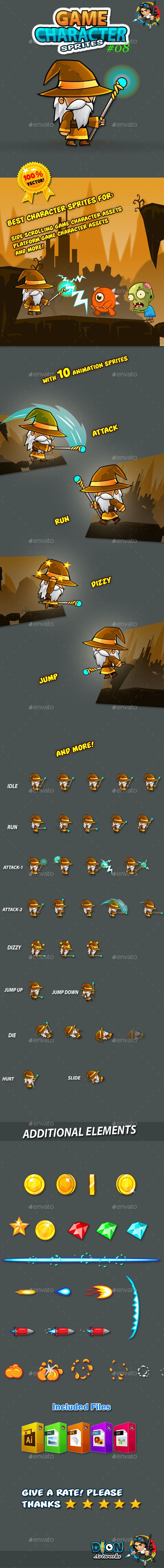 wizard game character sprites 08 - Game Design Ideas