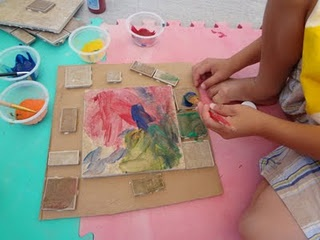 kids paintingSummer Crafts, Crafts Ideas, Kids Crafts, Art Ideas, Kids Painting, Creative Art, Childcare Crafts, Art Activities, Tile Painting