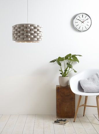 Natural Loopy Felt Drum Shade Easy to Fit