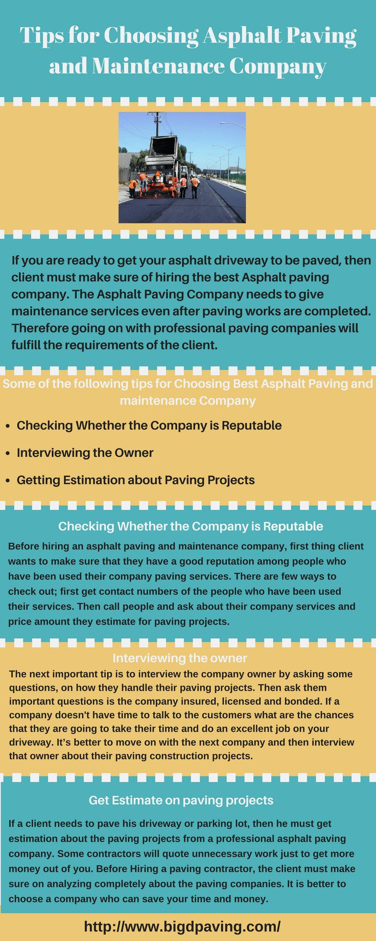 Tips for Choosing Asphalt Paving and Maintenance Company http://www.liveinfographic.com/i/tips-for-choosing-asphalt-paving-and-maintenance-company/ Tags: #infographic  #infographics #popular #pinterest #pinterestinfographics