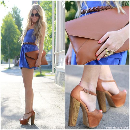 Shoes, belt, bag.