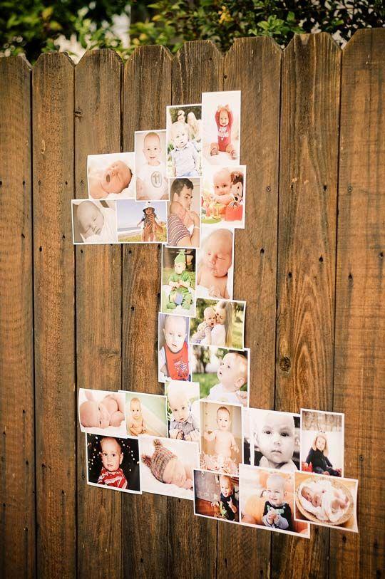 Numeros decorativos realizados con fotos : Idea original: crea un número para decorar una fiesta de cumpleaños con un collage de fotografías del anfitrión. Sirve para cumpleaños de niños y de adulto